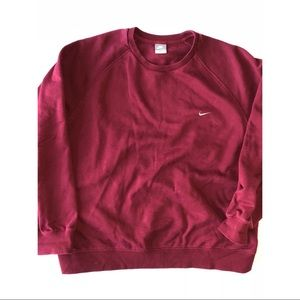 Vintage Nike Crewneck Sweatshirt Red Mens XXL